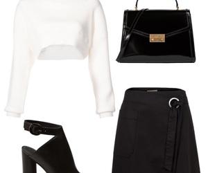 bag, skirt, and black image