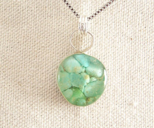 etsy, statement necklace, and turquoise pendant image