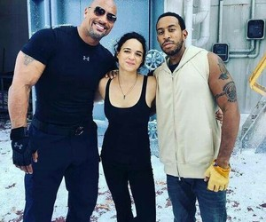 ludacris, the rock, and michelle rodriguez image