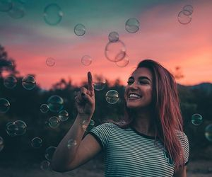 bubbles, happiness, and laughter image