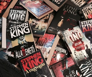 books, book, and Stephen King image