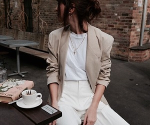 fashion, blazer, and outfit image