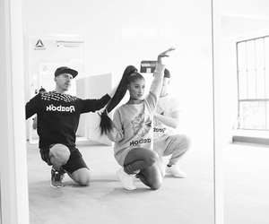 black and white, boys, and dancer image