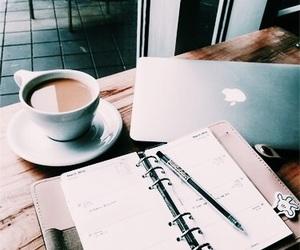 coffee, study, and apple image