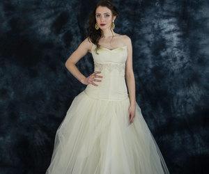 etsy, two piece wedding, and wedding dress image