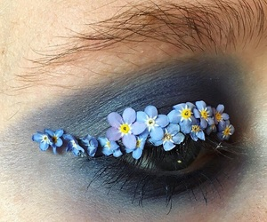makeup and flowers image