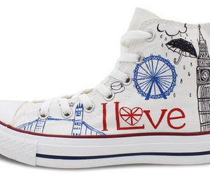 custom shoes, hand painted shoes, and custom converse image