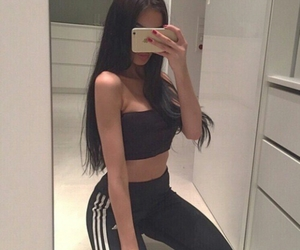 girl, adidas, and fashion image