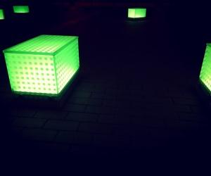 dark, light, and lights image