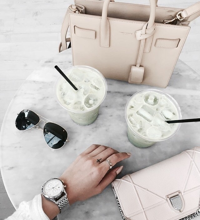 bag, drink, and sunglasses image