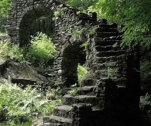 ruin, forest, and nature image