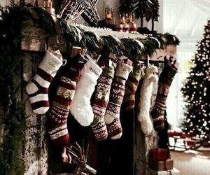 beautiful, socks, and christmas image