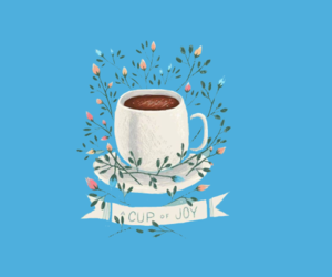 banner, blue, and coffee image