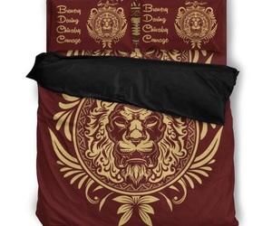 bed linen, hogwarts, and gryffindor image