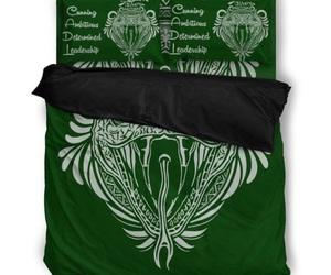 bed linen, hogwarts, and slytherin image