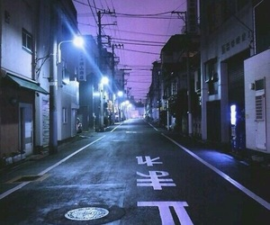 purple, street, and aesthetic image