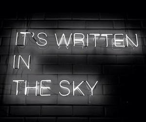 neon, sky, and written image