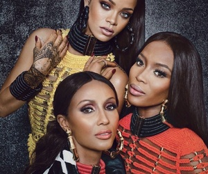 rihanna, Naomi Campbell, and Iman image
