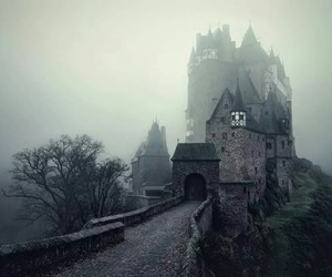 castle, dark, and fog image