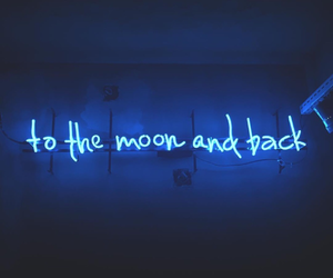 quotes, blue, and neon image