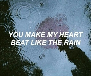 quotes, grunge, and rain image