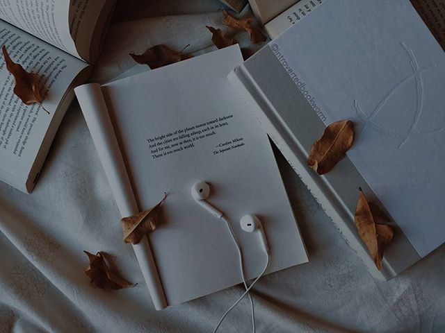 book, music, and autumn image