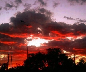 alternative, clouds, and red image
