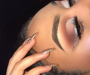 makeup and nails image