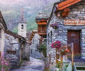 beautiful, mountains, and town image