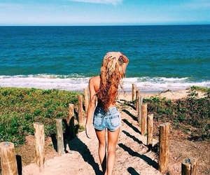 beach, beauty, and photography image