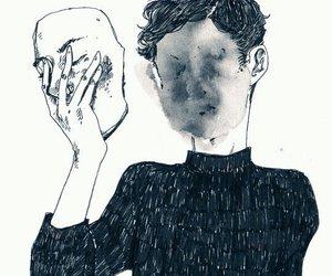 art, sad, and tumblr image