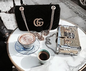 gucci, bag, and coffee image