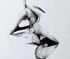 kiss, art, and drawing image