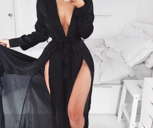 fashion, dress, and black image