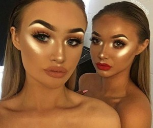 beauty beautiful, eyes eyebrows brows, and friendship goals image