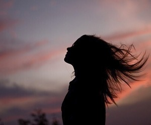 girl, hair, and sky image