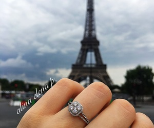 eiffel tower, love in paris, and paris image
