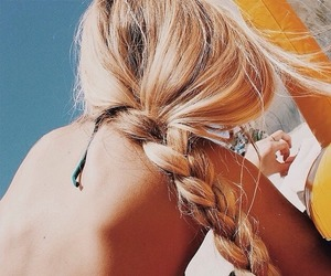 bikini, blonde, and braid image