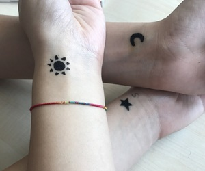 bff, moon, and star image