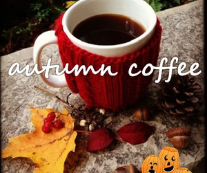 autumn, coffee, and cup image