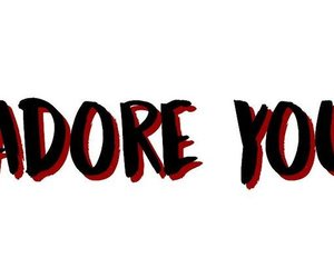 adore, black, and header image
