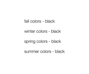 black, black clothes, and colors image