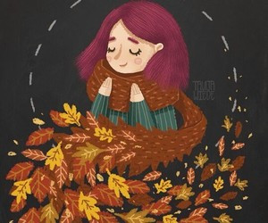 art, autumn, and draw image