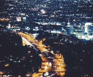 city, light, and california image
