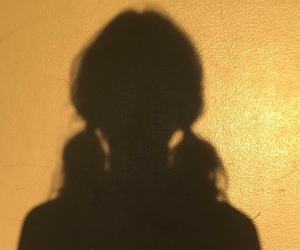 girl, aesthetic, and shadow image
