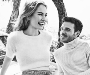 richard madden, lily james, and couple image