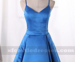 short homecoming dresses, homecoming dresses 2017, and blue homecoming dresses image