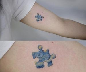 tattoo, art, and starry night image