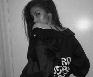 girl, tumblr, and black and white image