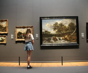 art, grunge, and museum image